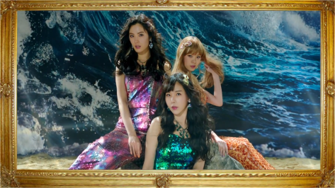 Orange caramel have graduated from being table tennis gods. They're mermaids now.
